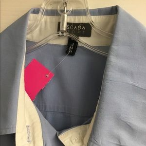 Escada Tops - ESCADA sport blue shirt size 44 large